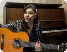 Положение рук на грифе гитары