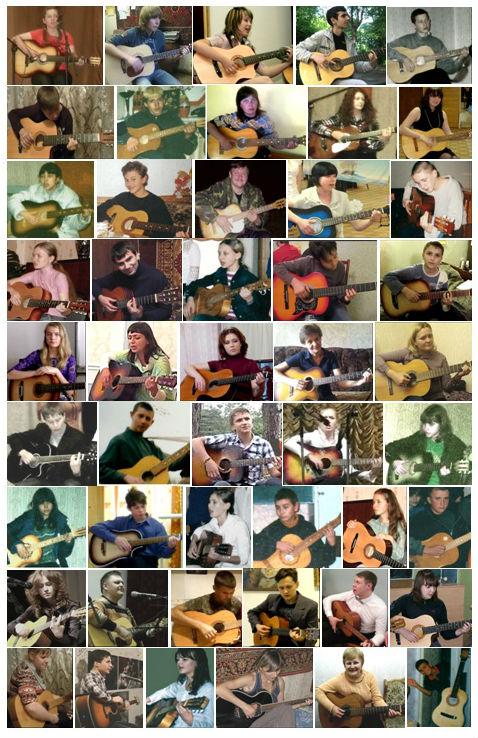 Виктория Юдина на очных уроках с учениками гитара